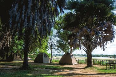 Camping in der freien Natur