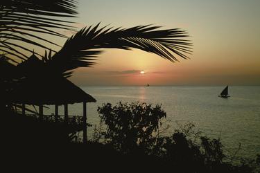 Zanzibars Westküste am Abend