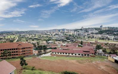Blick auf Kampala