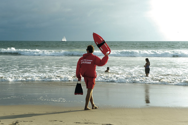 Lifeguard am Strand von Santa Monica