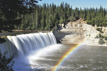 Lady Evelyn Falls @North West Territories Tourism