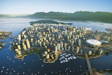 Vancouver von oben, © Albert Normandin