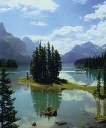 Spirit Island, Maligne Lake, Jasper Nationalpark