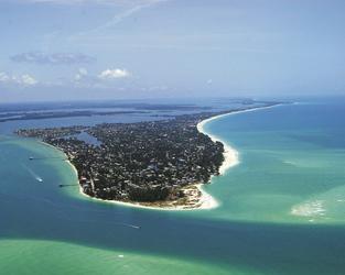 Bradenton Beach von oben, ©Bradenton Area Convention & Visitors Bureau
