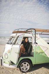 VW Bulli am New Smyrna Beach, ©(561)883-7768