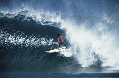 Surfer am North Shore von Oahu
