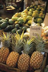 Frische hawaiianische Ananas