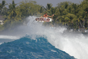 Surfing in Kona