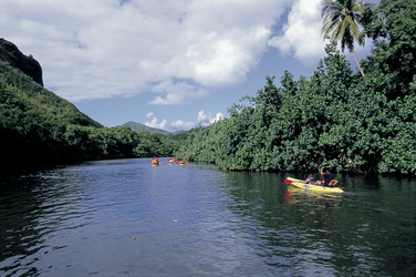 Unterwegs mit dem Kayak