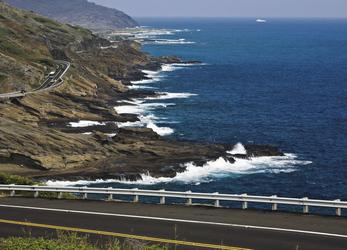 Fahrt entlang der Küste, Oahu
