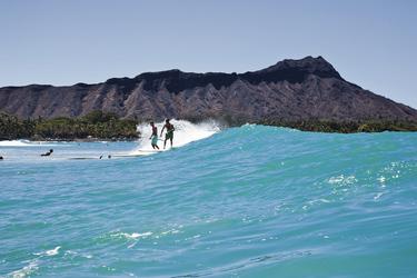 Surfer in Waikiki, Oahu