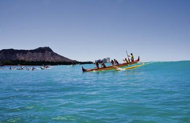 Kanu fahren in Oahu