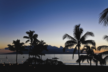 Sonnenuntergang auf Maui, ©Hawaii Tourism Authority