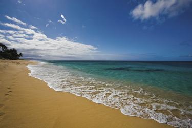 Am Strand von Oahu