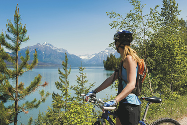 Mountainbike-Tour am Redfish Lake