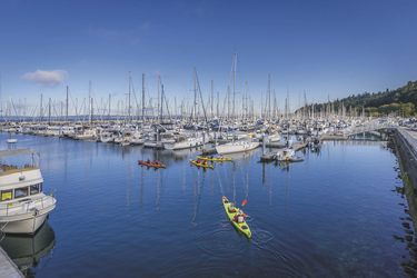 Kayakfahrer in Shilshole Bay - © Alabastro Photography - VisitSeattle, ©Alabastro Photography