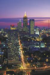 Skyline von Atlanta bei Nacht