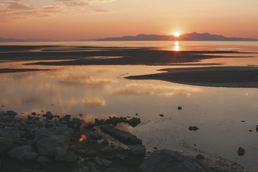 Sonnenuntergang am Great Salt Lake - c Utah Office of Tourism_Matt Morgan