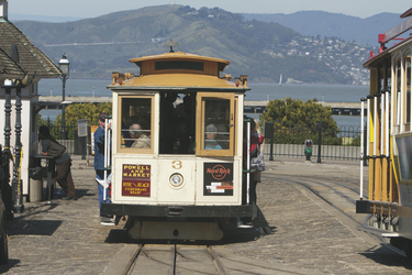 Cable Car am Pier 39 in San Francisco - c California Travel and Tourism Commission/Bongo, ©California Travel and Tourism Commission_Bongo