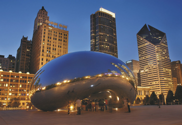 Cloud Gate im Millennium Park von Chicago