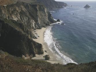 Küste entlang des Highway 1 nach San Francisco