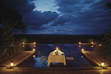 Stanley Safari Lodge, privates Abendessen, ©Stanley Safari Lodge