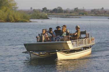 Bootsfahrt auf der Thorntree River Lodge