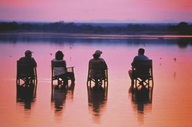 Sonnenuntergang bei Tena Tena Camp