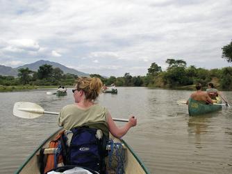 Kanufahrt im Lower Zambezi Nationalpark