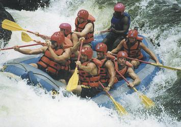 Wildwasserfahrt auf dem Zambezi