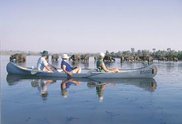 Kanufahrt am Lower Zambezi