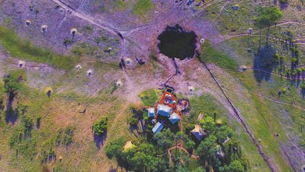 Somalisa Camp aus der Luft